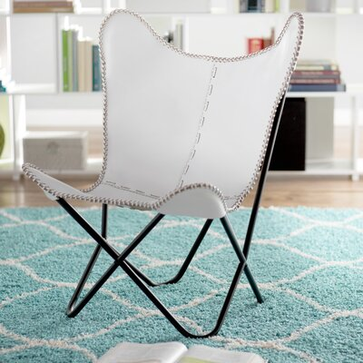Sharon Butterfly Lounge Chair Upholstery: White