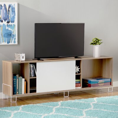 Erica 71 TV Stand Color: Oak/White