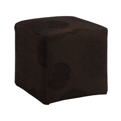 Doris Sunflower Cube Ottoman Upholstery: Brown