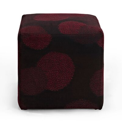 Doris Sunflower Cube Ottoman Upholstery: Red