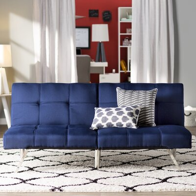 Piper Upholstered Convertible Sofa Upholstery: Royal Blue