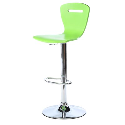 Georgia Adjustable Height Swivel Bar Stool Finish: Green