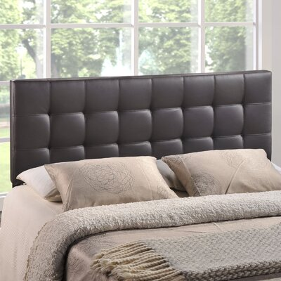 Francis Upholstered Panel Headboard Size: Full, Upholstery: Brown