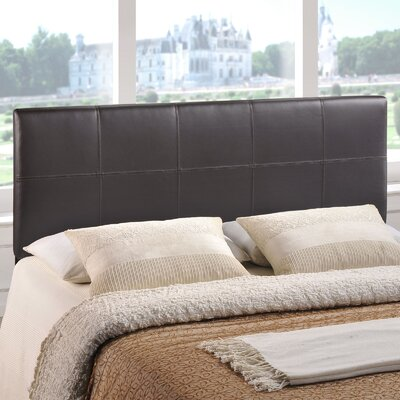 Francis Upholstered Panel Headboard Size: Queen, Upholstery: Brown