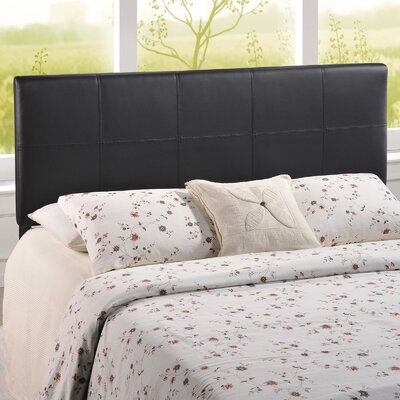 Francis Upholstered Panel Headboard Size: Twin, Upholstery: Black