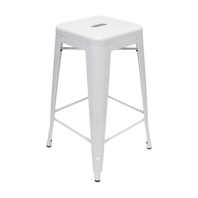 Louisa 26.5 Bar Stool Finish: White