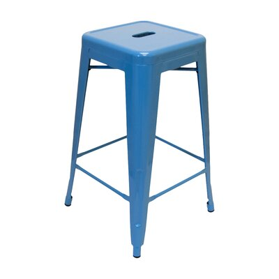 Louisa 26.5 Bar Stool Finish: Blue
