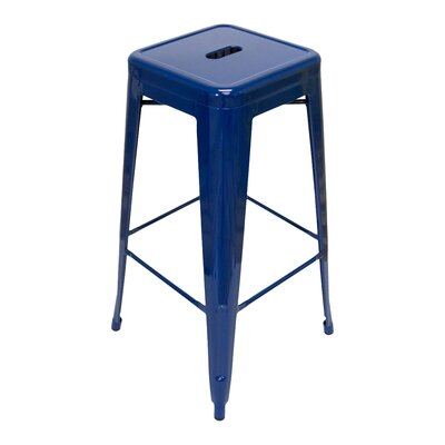 Louisa 26.5 inch Bar Stool Finish: Navy
