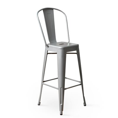 Louisa 30 Bar Stool Upholstery: Silver