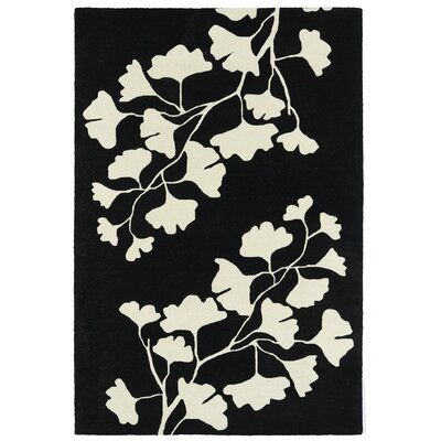 Talitha Hand-Tufted Black / Ivory Area Rug Rug Size: Rectangle 2 x 3