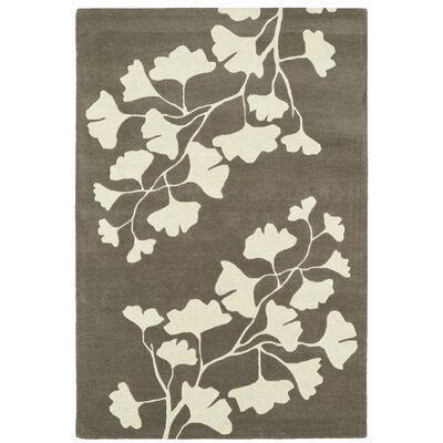 Frances Hand-Tufted Grey / Ivory Area Rug Rug Size: 2 x 3