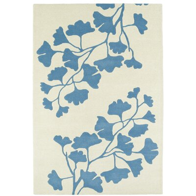Talitha Hand-Tufted Light Blue / Ivory Area Rug Rug Size: 2 x 3