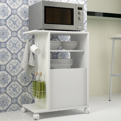Erica Microwave Cart Base Finish: White