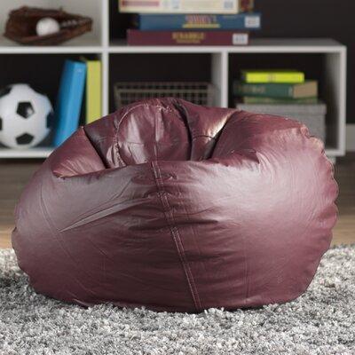 Riley 16 Bean Bag Chair Upholstery: Burgundy