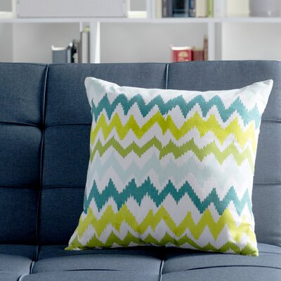 Lucinda Charla Cotton Throw Pillow Color: Ivory/Green
