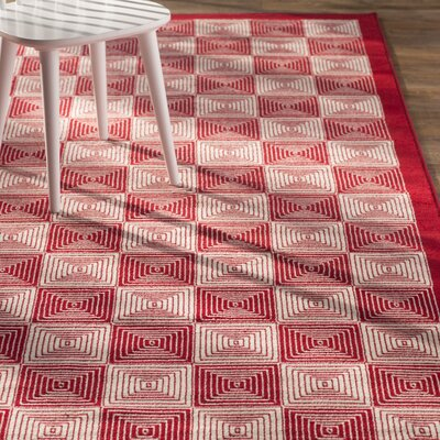 Charlotte Red Indoor/Outdoor Area Rug Rug Size: Round 55