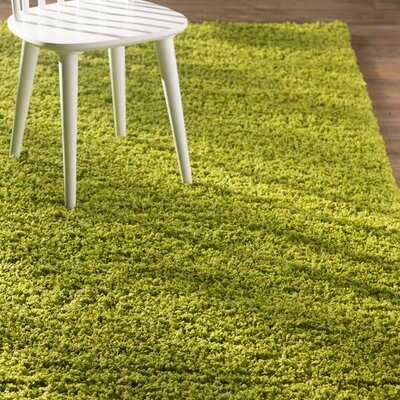 Madison Basic Apple Green Area Rug Rug Size: 4 x 6, Color: Color