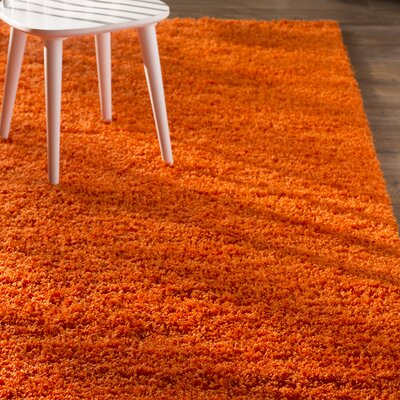 Madison Orange Area Rug Rug Size: Round 82, Color: Orange