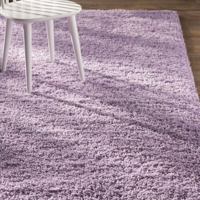 Madison Purple Area Rug Rug Size: 9 x 12, Color: Purple