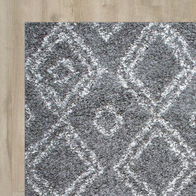 Alexa Gray Area Rug Rug Size: 53 x 76