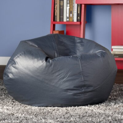 Riley 16 Bean Bag Chair Upholstery: Navy