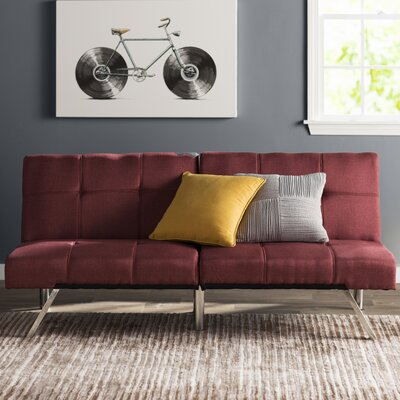 Piper Upholstered Convertible Sofa Upholstery: Marsala