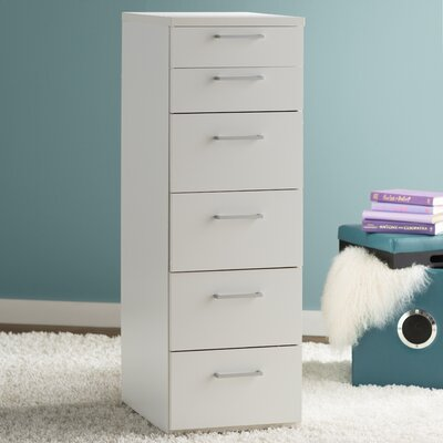 Shelby 6 Drawer Lingerie Chest Color: White