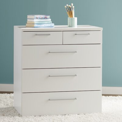 Shelby 5 Drawer Chest Color: White