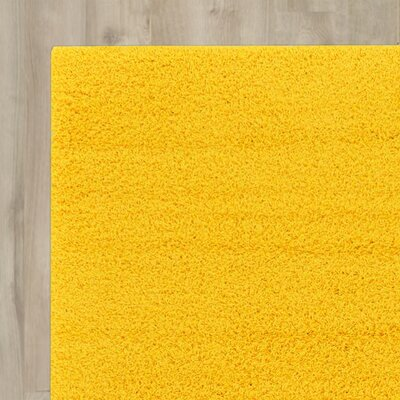 Madison Basic Dark Yellow Area Rug Rug Size: 9 x 12, Color: Yellow