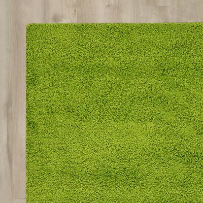Madison Basic Apple Green Area Rug Rug Size: 8 x 10, Color: Green