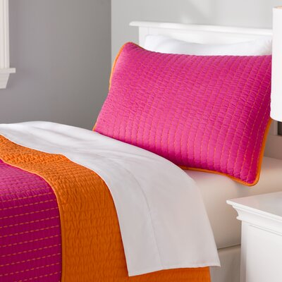 Margo Reversible Quilt Set Color: Pink, Size: Twin