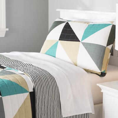 Theresa Geo Reversible Quilt Set Size: Twin