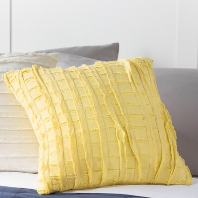 Rowena Cotton Throw Pillow Color: Goldfinch