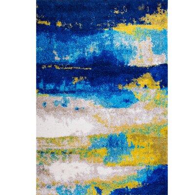 Greta Blue Area Rug Rug Size: 66 x 92