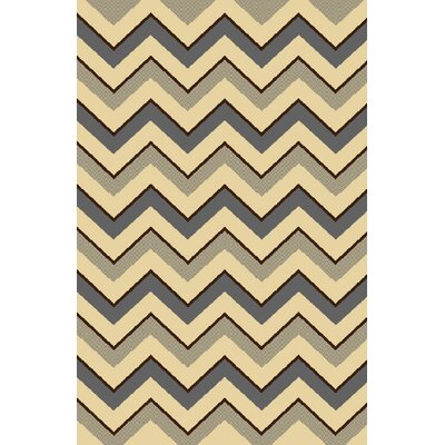 Marjorie Gray/Ivory Area Rug Rug Size: 78 x 104