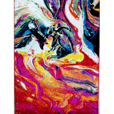 Peyton Multi-Colored Area Rug Rug Size: 52 x 72