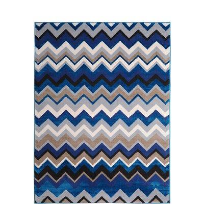 Alexia Blue Area Rug Rug Size: 52 x 72