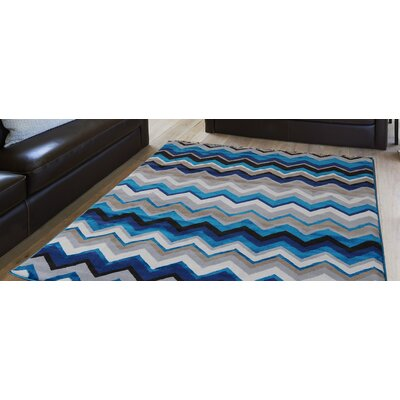 Alexia Blue Area Rug Rug Size: Rectangle 52 x 72