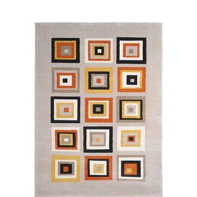 Alexia Orange Area Rug Rug Size: 33 x 52