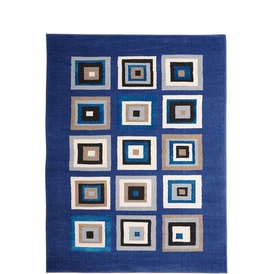 Alexia Blue Area Rug Rug Size: 33 x 52