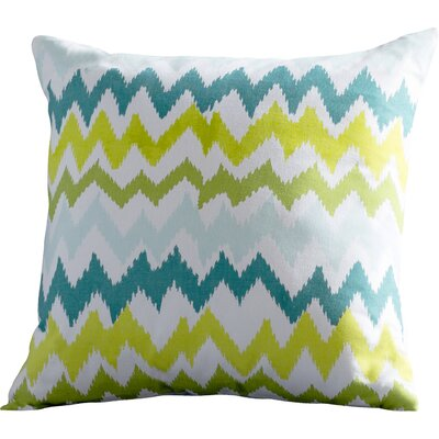 Lucinda Charla Cotton Pillow Cover Color: Ivory/Green