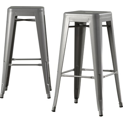 Louisa 30.5 Bar Stool Finish: Silver