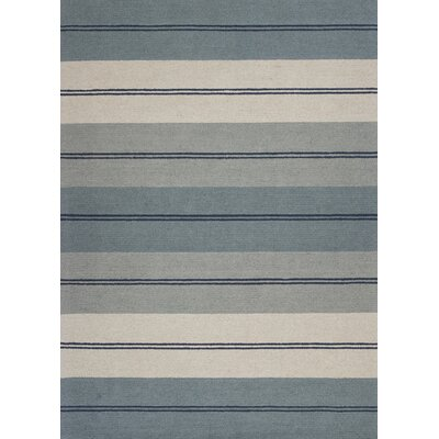 Graciela Hand-Tufted Ivory/Blue Area Rug Rug Size: 23 x 39