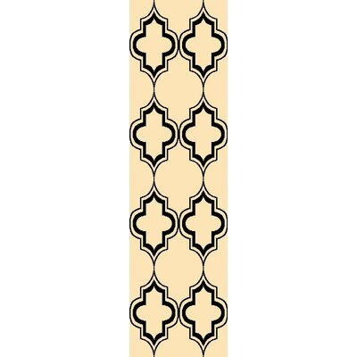 Lashley Ivory/Black Area Rug Rug Size: Runner 22 x 711