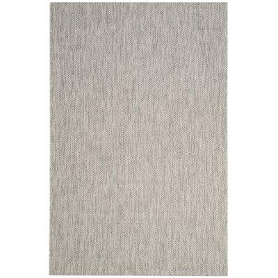 Estella Gray Indoor/Outdoor Area Rug Rug Size: 4 x 57