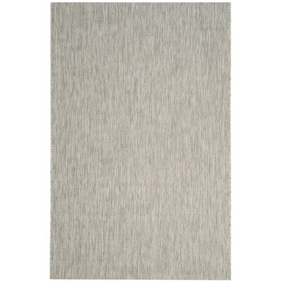 Lefferts Gray Indoor/Outdoor Area Rug Rug Size: 53 x 77