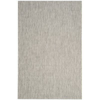 Lefferts Gray Indoor/Outdoor Area Rug Rug Size: 8 x 11