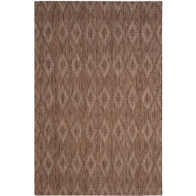 Lefferts Brown Indoor/Outdoor Area Rug Rug Size: 6'7