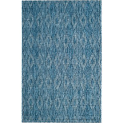 Lefferts Navy Indoor/Outdoor Area Rug Rug Size: Rectangle 9 x 12