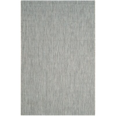 Bolen Gray / Navy Indoor/Outdoor Area Rug Rug Size: Rectangle 4 x 57